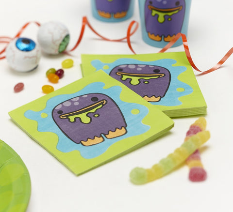 20 Tovaglioli di Carta Monster | GINGER RAY | RocketBaby.it
