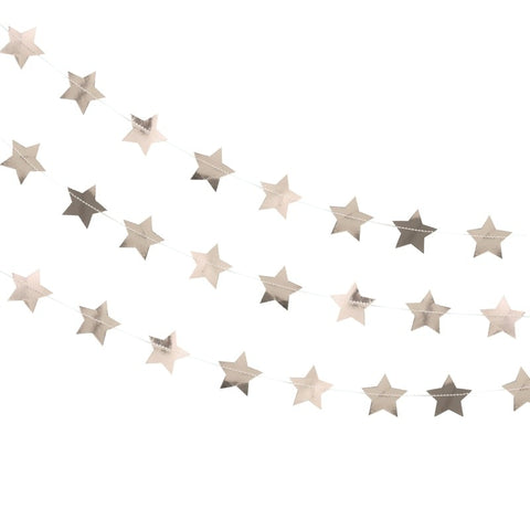 Ghirlanda Rose Gold Metallic Star | GINGER RAY | RocketBaby.it