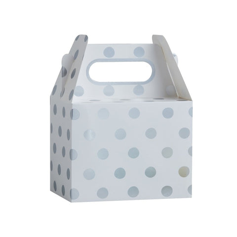 5 Scatole Bomboniera Polka Dot Silver | GINGER RAY | RocketBaby.it