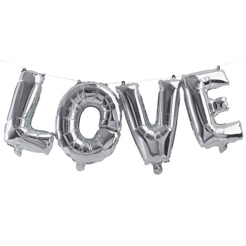 Ghirlanda Palloncini Love Silver | GINGER RAY | RocketBaby.it