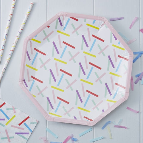 8 Piatti di Carta Sprinkles | GINGER RAY | RocketBaby.it