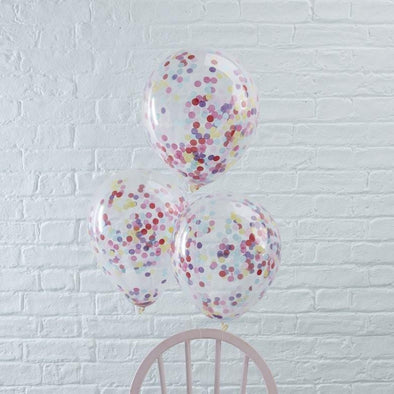 5 Palloncini con Coriandoli Mix | GINGER RAY | RocketBaby.it