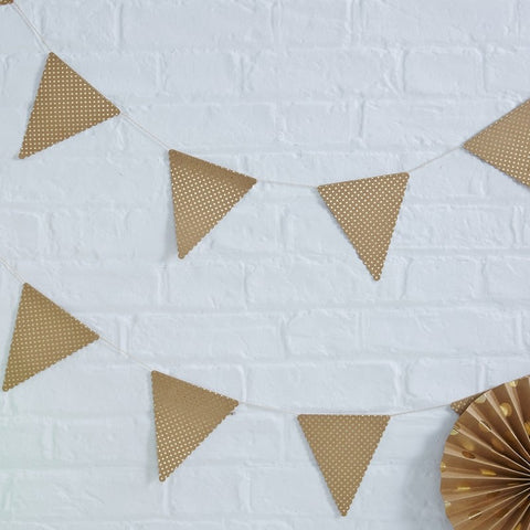 Ghirlanda Polka Dot Gold Kraft | GINGER RAY | RocketBaby.it