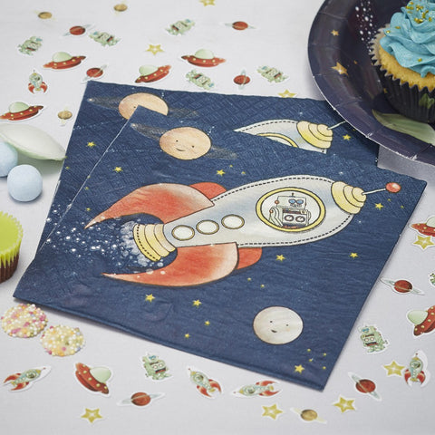 20 Tovaglioli di Carta Space | GINGER RAY | RocketBaby.it