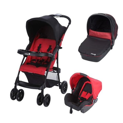Passeggino Navicella e Seggiolino Auto 3 in 1 Taly Ribbon Red Chic | SAFETY 1ST | RocketBaby.it