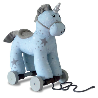 Peluche da Trainare Moonbeam Unicorn | LITTLE BIRD TOLD ME | RocketBaby.it