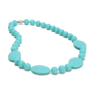 Collana da Mordere Perry Turquoise | CHEWBEADS | RocketBaby.it