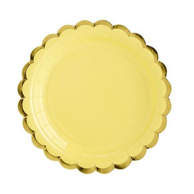 Set 6 Piatti di Carta Yellow | PARTY DECO | RocketBaby.it