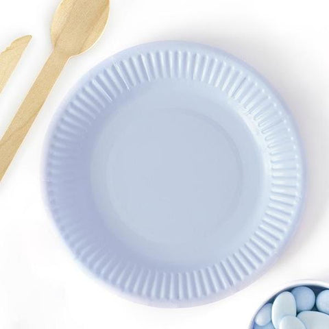 Set 6 Piatti di Carta Pale Cornflower Blue | PARTY DECO | RocketBaby.it