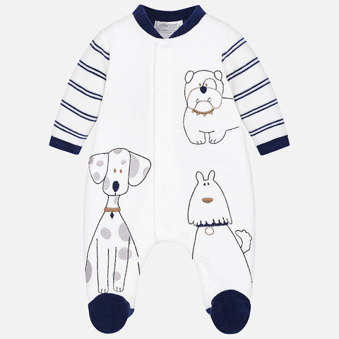 Pigiama in Ciniglia Cagnolini Navy | MAYORAL | RocketBaby.it
