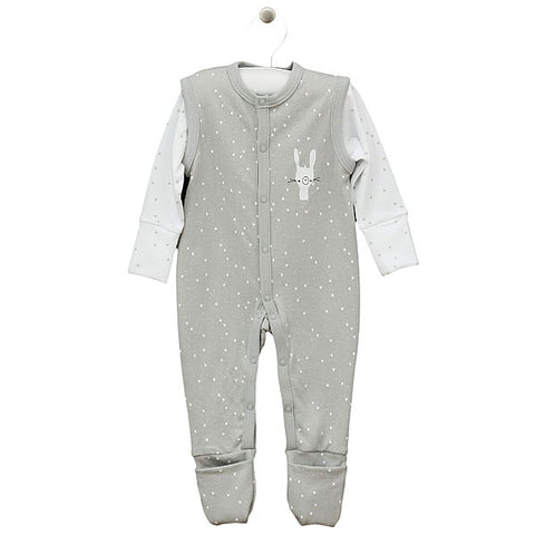 Pigiama Fluffy Grey | LORITA | RocketBaby.it