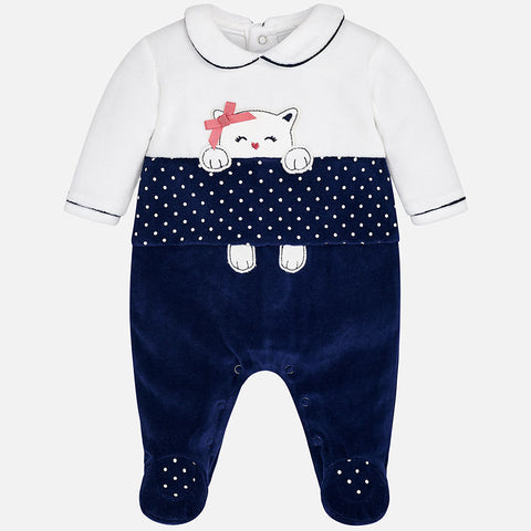 Pigiama Intero Gattino a Pois Navy | MAYORAL | RocketBaby.it