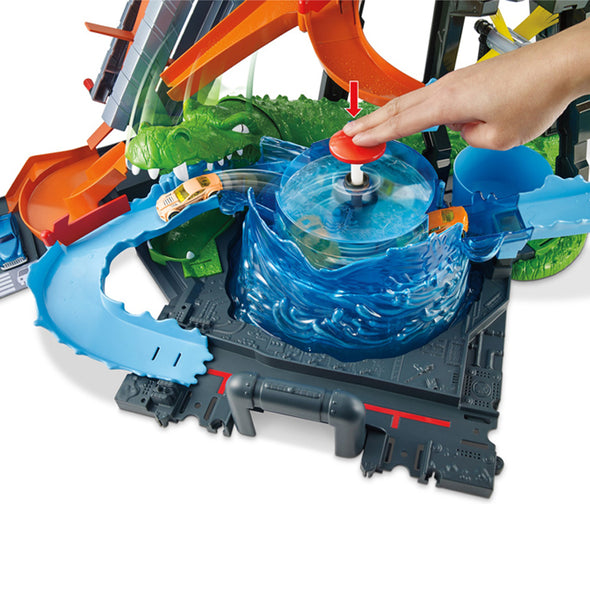 Pista per Macchinine Hot Wheels City Ultimate Gator Car Wash | MATTEL | RocketBaby.it