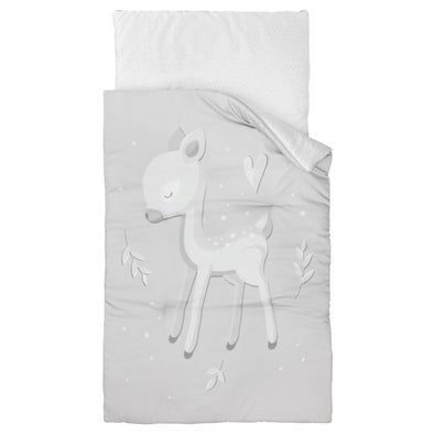 Set Piumino e Cuscino Imbottito Roe Deer Grey | EFFII | RocketBaby.it