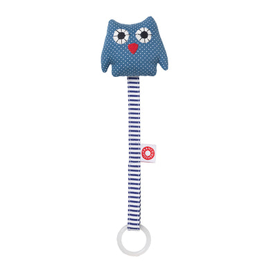 Clip Porta Ciuccio Owl Blue | FRANCK AND FISCHER | RocketBaby.it