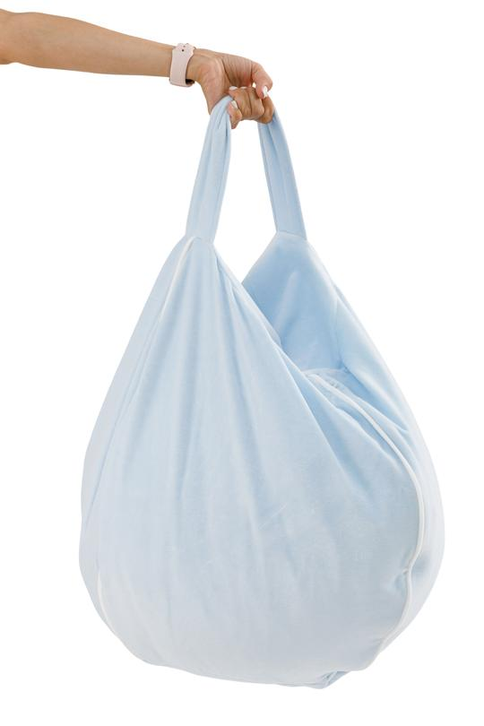 Poltrona Sacco Bubble in Velluto Baby Blue | WIGIWAMA | RocketBaby.it