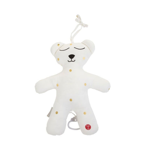 Pupazzo Orso Musicale Jersey Gold Dots | CHILDHOME | RocketBaby.it