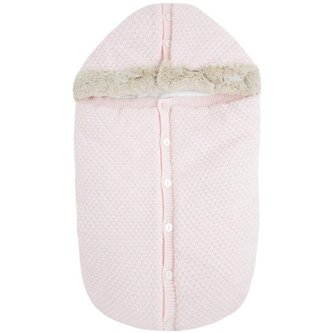 Sacco Passeggino Tricot Rosa Baby | MAYORAL | RocketBaby.it