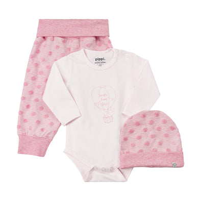 Set Body a Maniche Lunghe Pantaloni e Cuffia Shrinking Violet | PIPPI | RocketBaby.it