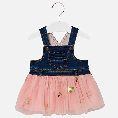Salopette con Gonna in Tulle Rosa | MAYORAL | RocketBaby.it