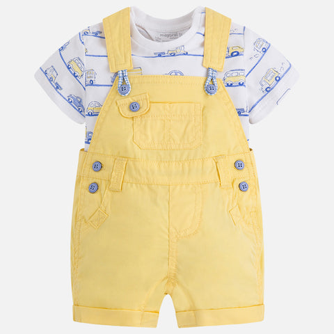 Completo Salopette Corta Limone | MAYORAL | RocketBaby.it