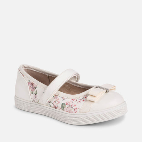 Scarpe Ballerine Stampate Fiori Bianco | MAYORAL | RocketBaby.it