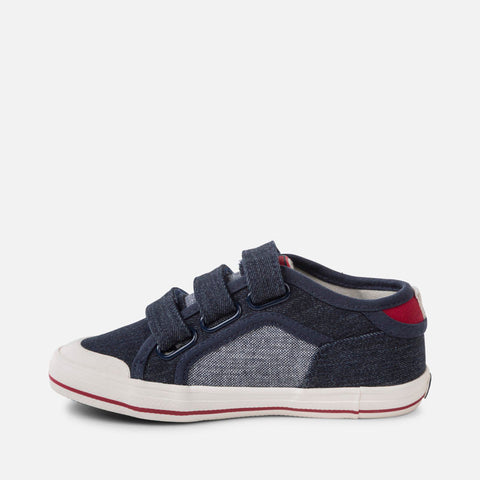 Sneakers in Tela con Strap Jeans Scuro | MAYORAL | RocketBaby.it