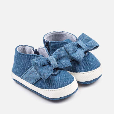 Scarpe Soft Sole con Zip e Fiocco Jeans | MAYORAL | RocketBaby.it