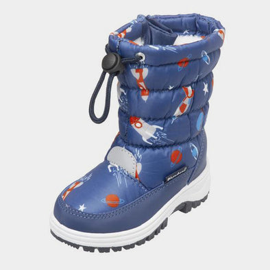 Stivali da Neve con Coulisse Outer Space Navy | PLAYSHOES | RocketBaby.it