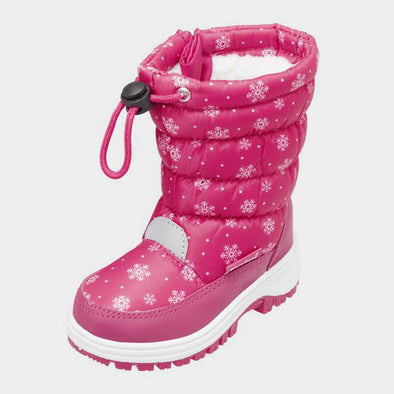 Stivali da Neve con Coulisse Snowflake Pink | PLAYSHOES | RocketBaby.it