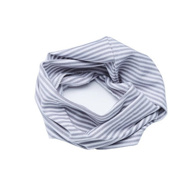 Sciarpa Infinity Stripe White e Grey | BAMBOOM | RocketBaby.it