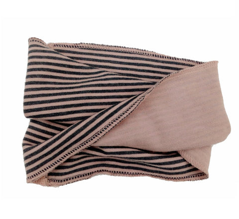Sciarpa Infinity Striped Pink Grey | BAMBOOM | RocketBaby.it
