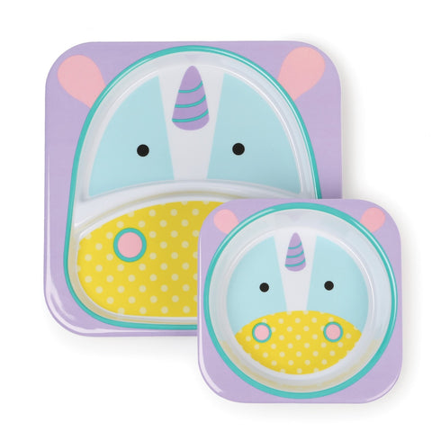 Set Piatto e Ciotola Unicorno | SKIP HOP | RocketBaby.it
