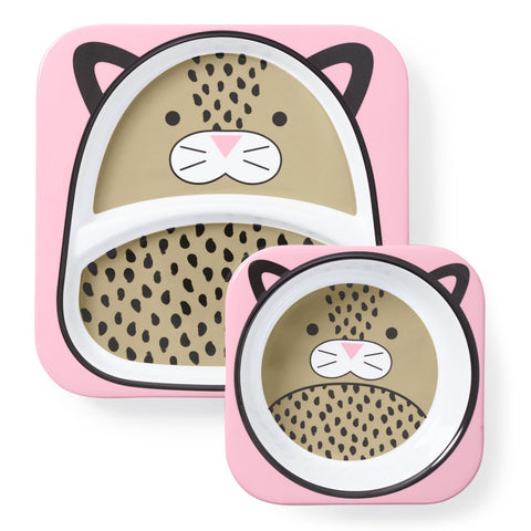 Set Piatto e Ciotola Leopardo | SKIP HOP | RocketBaby.it