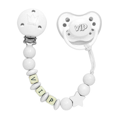Set Ciuccio e Portaciuccio Vip White | LITTLEMICO | RocketBaby.it