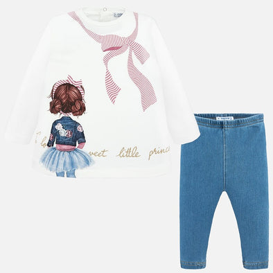 Set Completo Maglietta A Maniche Lunghe e Leggings Rosa | MAYORAL | RocketBaby.it