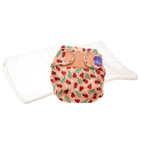 Set Pannolino Lavabile e Cover Miosoft Loveable Ladybug | BAMBINO MIO | RocketBaby.it