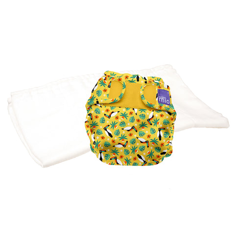 Set Pannolino Lavabile e Cover Miosoft Tropical Toucan | BAMBINO MIO | RocketBaby.it
