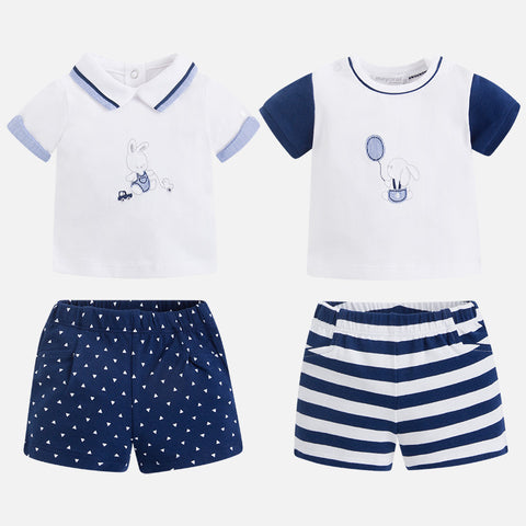 Set 2 Magliette e Pantaloncini Navy | MAYORAL | RocketBaby.it