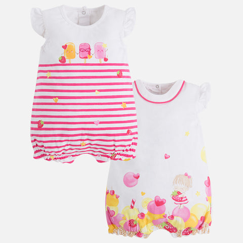 Set 2 Pigiami Corti Rosa Sorbetto | MAYORAL | RocketBaby.it