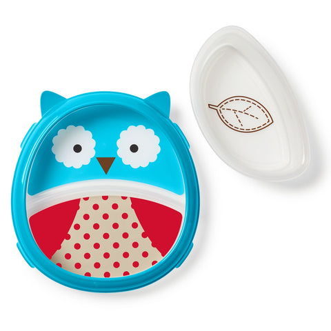 Set Piatto con Scomparti e Ciotola Easy Scoop Gufo | SKIP HOP | RocketBaby.it