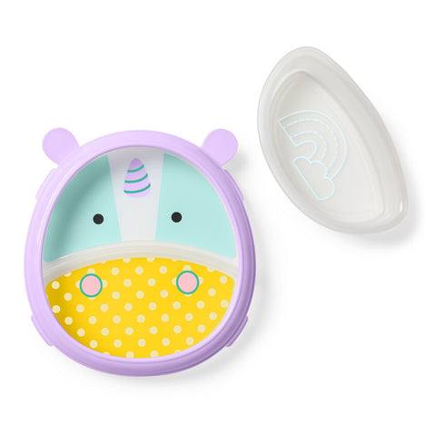 Set Piatto con Scomparti e Ciotola Easy Scoop Unicorno | SKIP HOP | RocketBaby.it
