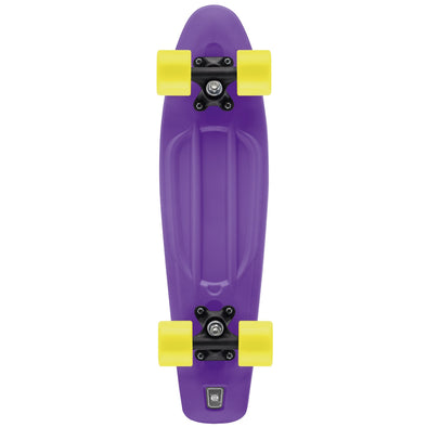 Skateboard Single Kick 58 cm con Ruote LED Luminose Purple | TOYRIFIC | RocketBaby.it