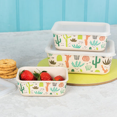 Set 3 Snack Box in Bamboo Desert in Bloom | REX LONDON | RocketBaby.it