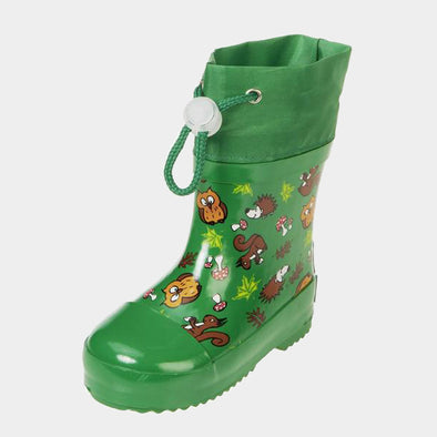 Stivali in Gomma con Coulisse Forest Animals Green | PLAYSHOES | RocketBaby.it