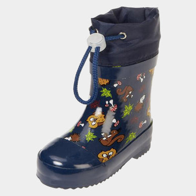Stivali in Gomma con Coulisse Forest Animals Navy | PLAYSHOES | RocketBaby.it