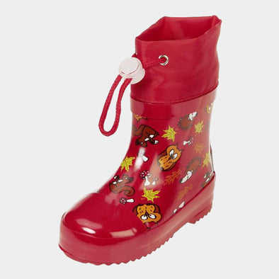 Stivali in Gomma con Coulisse Forest Animals Red | PLAYSHOES | RocketBaby.it