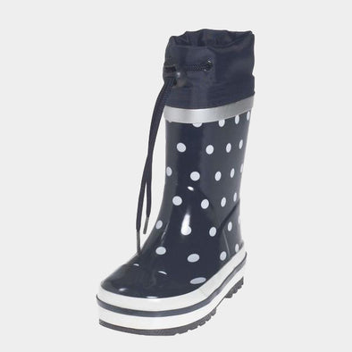 Stivali in Gomma con Coulisse Dots Navy | PLAYSHOES | RocketBaby.it