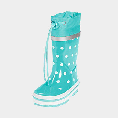 Stivali in Gomma con Coulisse Dots Turquoise | PLAYSHOES | RocketBaby.it