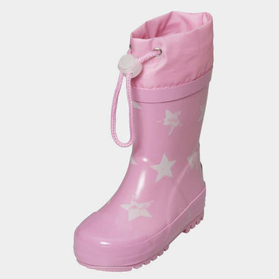 Stivali in Gomma con Coulisse Stars Lightpink | PLAYSHOES | RocketBaby.it